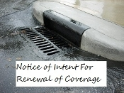Renewal of Ohio Stormwater Notice-Of-Intent For Coverage